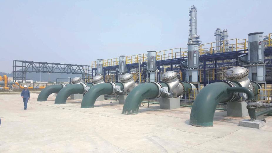 中海油大榭石化立式长轴雨水泵