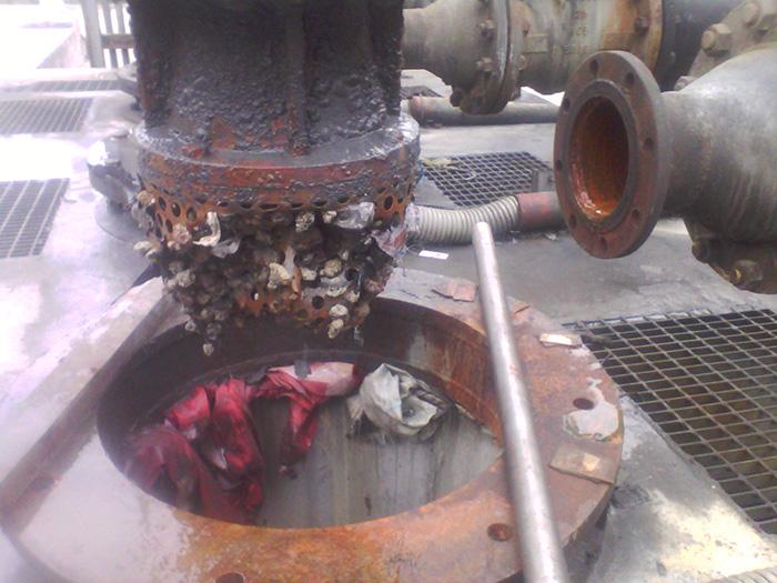 泵入口被堵塞