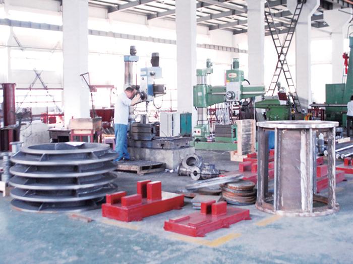 大型立式长轴混流泵泵座